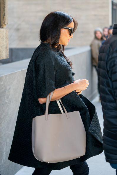 Markle baby shower grey coat