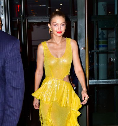 "<p>Gigi Hadid stepped out in a canary yellow gown from Prabal Gurung in New York last night proving that the seldom-seen shade is back.</p> <p>The model paired the dress with a pair of mustard Christian Louboutin stilettos and gold earrings from Lorraine Schwartz.</p> <p>And Gigi is not the only A-Lister opting for bright yellow this week.</p> <p>Actress Blake Lively rocked a bold Brandon Maxwell jumpsuit when she appeared on the TV show <a href=""http://style.nine.com.au/2017/10/17/15/43/blake-lively-all-i-see-is-you-fashion-outfits-wardrobe"" target=""_blank"" draggable=""false"">Good Morning America.</a></p> <p>Both women looked amazing &ndash; which is a little surprising if we&rsquo;re honest.</p> <p>Why? Because yellow is tricky. That&rsquo;s all there is to it.</p> <p>Get it wrong and you risk looking pale and drab.</p> <p>But get it right and yellow is not only super fresh and fun, but a chic change from fashionable black.</p> <p>So, the question begs to be asked. How do we ensure we get it right?</p> <p>Australian designer <a href=""https://www.rebeccavallance.com"" target=""_blank"">Rebecca Vallance</a> says it's simple.</p> <p>""It&rsquo;s important to remember that there is a wide variety of shades that fall under the one name,"" she says.</p> <p>""From bright citrus summer colours to dusty mustard yellows; there are tones to suit almost any skin colour.""</p> <p>Nine Network style manager Alex Wilson, who has dressed the likes of Jessica Marais and Sylvia Jeffreys, says it's important to match your yellow shade of choice to your skin tone.</p> <p>""Lighter skin tones should stick to mustards and darker yellows while bright yellows will make olive to black skin tones glow,"" says Wilson.</p> <p>Click through to see how Gigi, Blake and other stylish celebrities have taken on the power of yellow and our yellow best-buys edit.</p>"