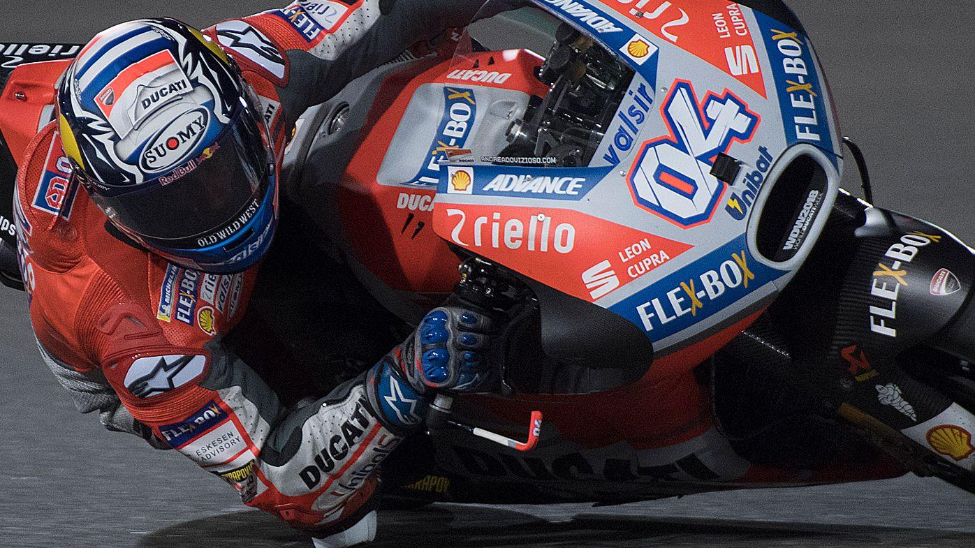 Andrea Dovizioso riding