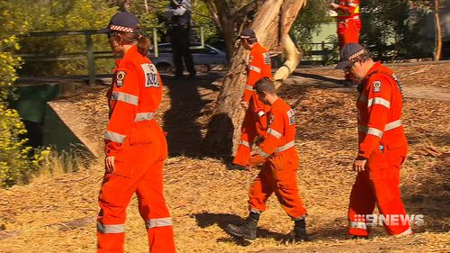 SES crews assisted in the search for evidence today. (9NEWS)