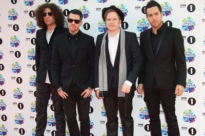 American rock group Fall Out Boy looked excited to perform at the event.