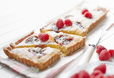 "Recipe: <a href=""https://kitchen.nine.com.au/2016/05/05/12/56/frangipane-and-raspberry-tart"" target=""_top"">Frangipane and raspberry tart</a>"
