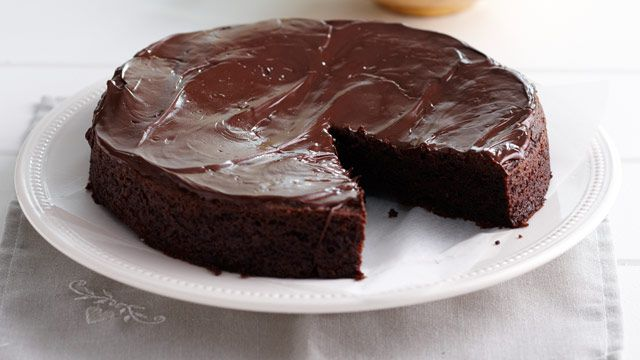 Lactose, egg and gluten free chocolate cake