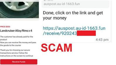 Scamwatch alerts Australians about Gumtree scam on October 21.