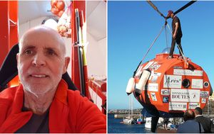 Adventurer aged 71 to spend three months crossing Atlantic in bright, orange barrel