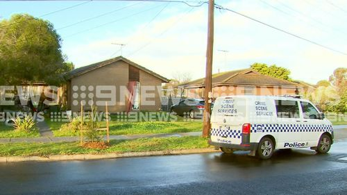 Police at the scene this morning. Picture: 9NEWS