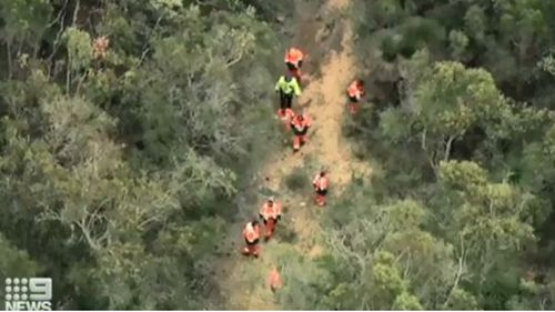 Members of the local SES and police are out searching dense bushland for the toddler.
