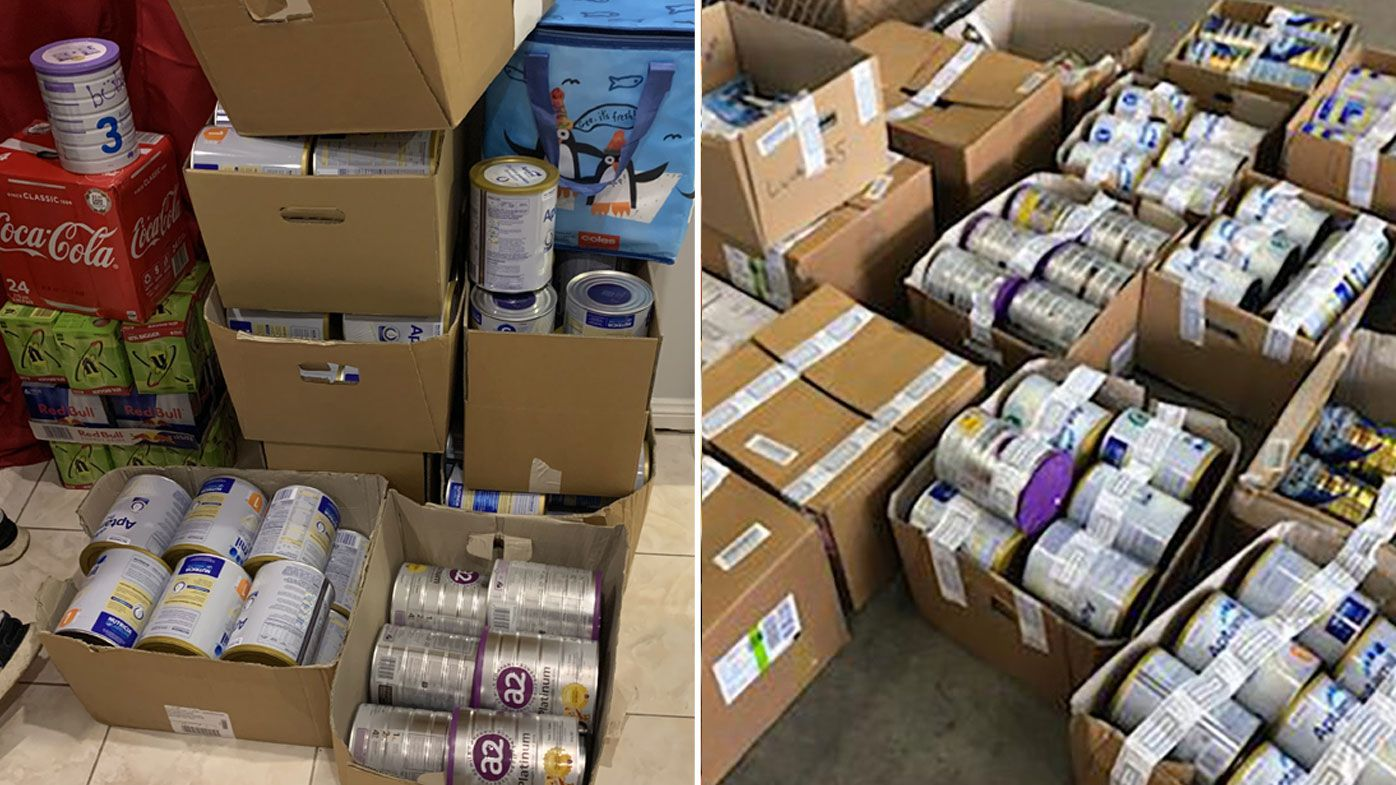 Three people arrested over stolen baby formula