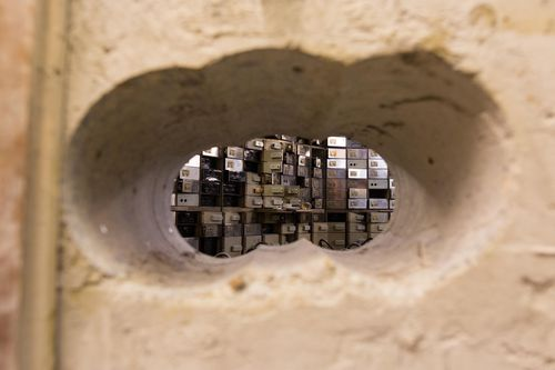 File photo dated 24/10/16 of the holes drilled to gain access to the Hatton Garden Safe Deposit, in Hatton Garden, London