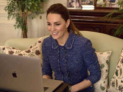 Kate Middleton on a video call
