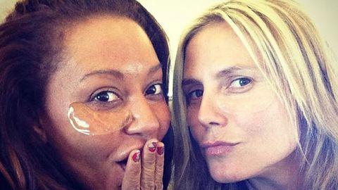 Makeup free! Heidi Klum and Mel B go bare-faced together