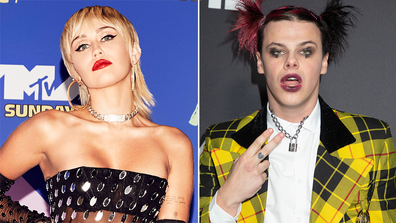 Miley Cyrus, singer Yungblud, packing on the PDA, Hannah Montana party