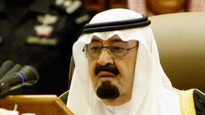 Saudi King Abdullah bin Abdulaziz speaks before the members of the Shoura Council in Riyadh, Saudi Arabia in September 2011. (AAP)