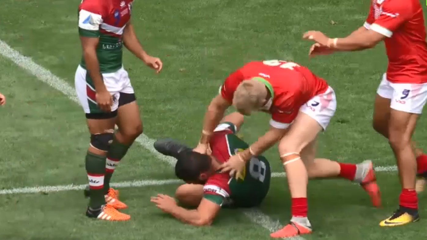 Lebanon and Wales players get in a fight