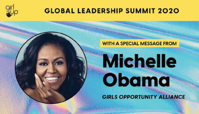 Michelle Obama flyer Girl Up summit 2020