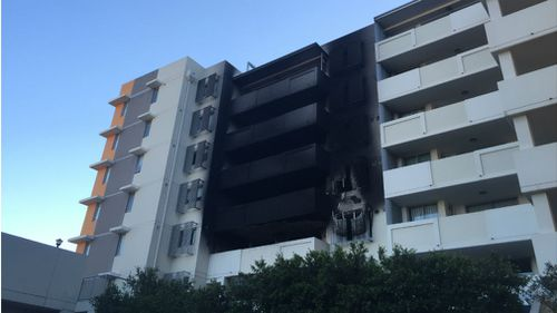 A fire which was put out on Thursday reignited overnight. (9NEWS/Aislin Kriukelis)