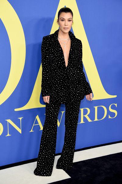 Kourtney Kardashian in Christian Sirianoat the 2018 CFDA Awards