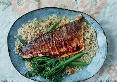 """<a href=""""http://kitchen.nine.com.au/2017/03/06/16/46/anxiety-busting-miso-sea-bass-with-green-tea-rice-ochakuze"""" target=""""_top"""">Anxiety-busting miso sea bass with green tea rice (ochakuze)</a><br /> <br /> <a href=""""http://kitchen.nine.com.au/2017/03/06/17/29/how-to-eat-for-happiness-recipes-for-energy-mood-anxiety-sleep-comfort"""" target=""""_top"""">More food to boost your mood</a>"""