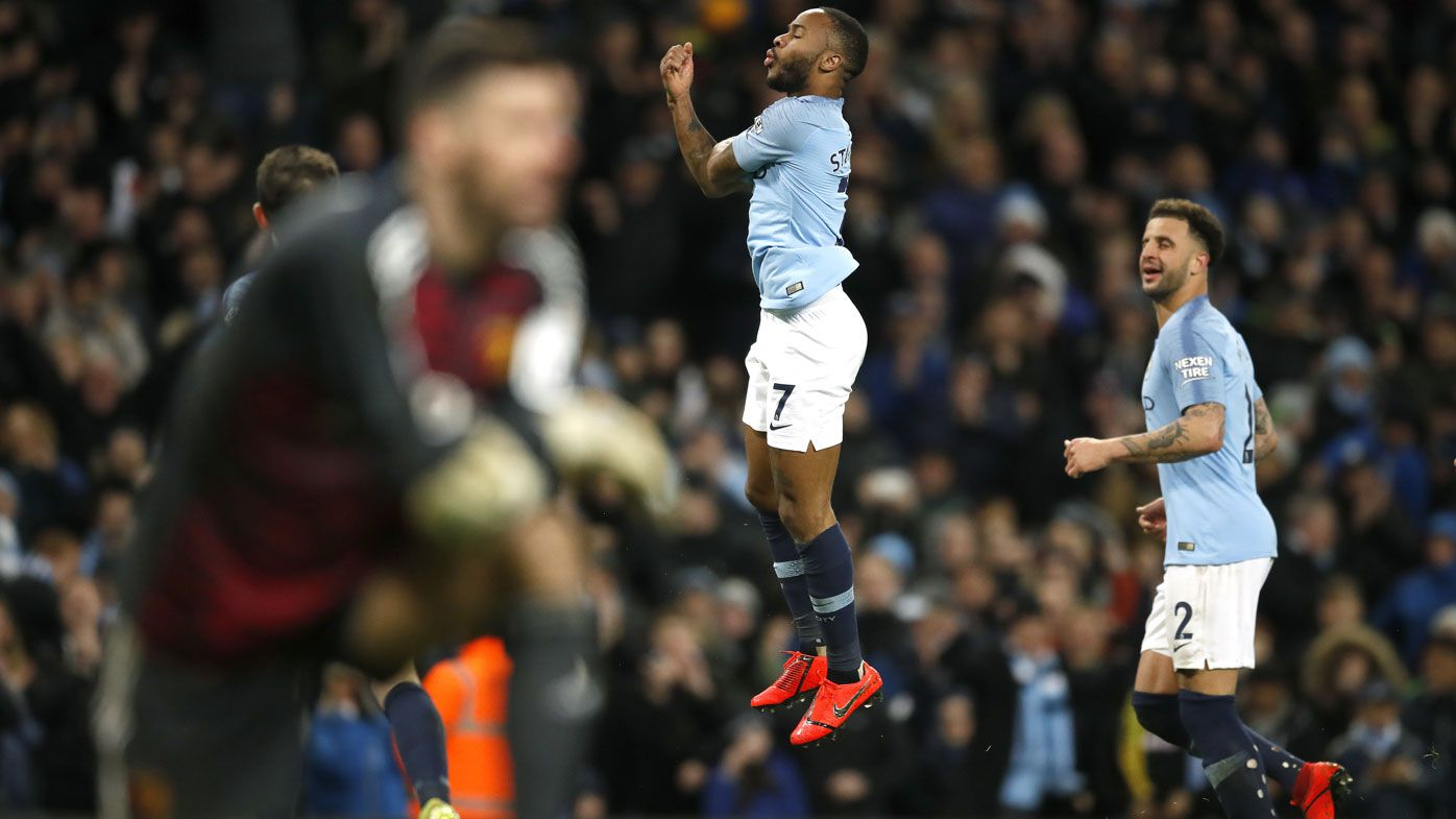 Raheem Sterling hat-trick seals Manchester City win, as Spurs lose