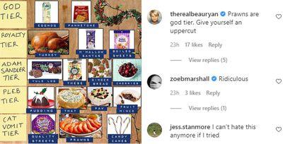 Sydney man's controversial Christmas food rankings spark fury