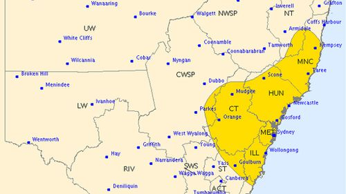 UPDATE: Severe storm warning issued for parts of NSW