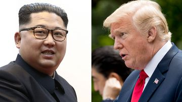 Kim Jong-un and Donald Trump. (AAP)