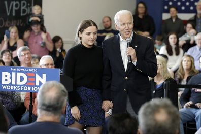 The pair during a campaign event on Sunday.