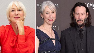 Twitter thought Keanu Reeves' new girlfriend Alexandra Grant was actually Helen Mirren