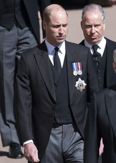 Prince William wears medals at Prince Philip's funeral