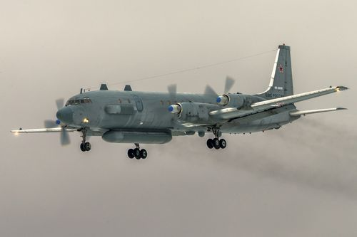 An Il-20 electronic intelligence plane similar to that shot down off the Syrian coast by air defences targeting Israeli jets.