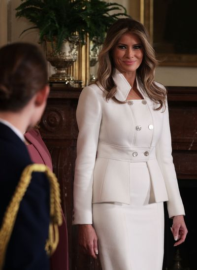 Melania Trump in Karl Lagerfeld at The White House.