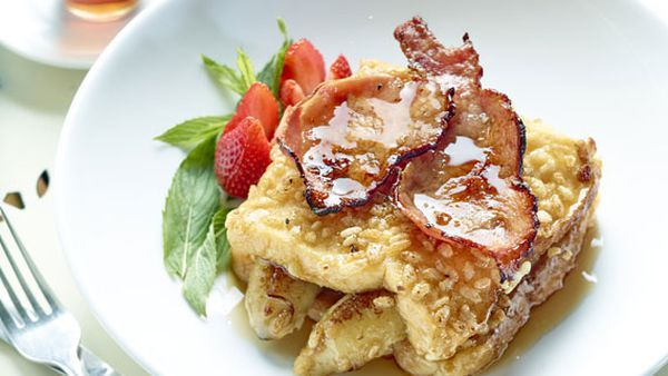 Rice Bubbles French toast