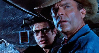 Sam Neill, Jeff Goldblum, Jurassic Park, co-stars