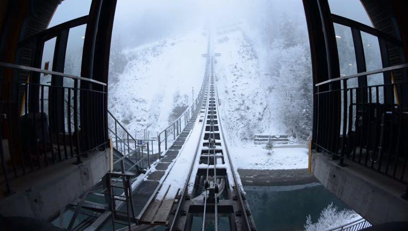 World's steepest funicular railway opens in Switzerland