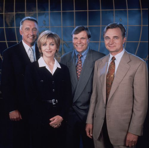 A 1995 groupshot of the 60 minutes crew.