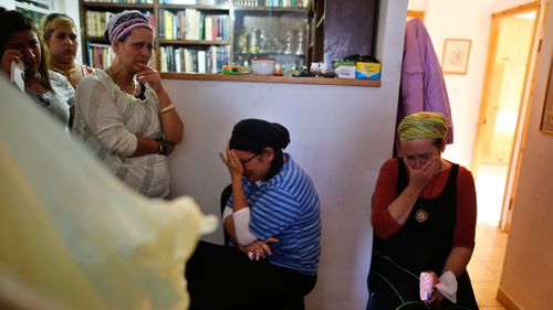 Family members mourn Hallel Yaffa Ariel. (AFP)