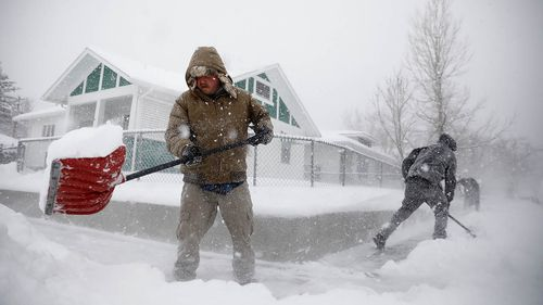 The storm brought blizzard conditions to more than 25 US state, including parts of Colorado, Wyoming, Montana, Nebraska and South Dakota.