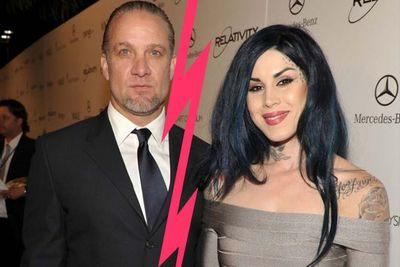 """Six months after their engagement Jesse James and LA Ink co-star Kat Von D called it quits on Twitter. """"The distance between us was just too much,"""" Jesse tweeted."""