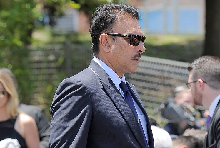 The team's director Ravi Shastri also attended.