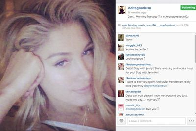 @deltagoodrem: 2am... Morning Tuesday. x #skypingbestiesinOz