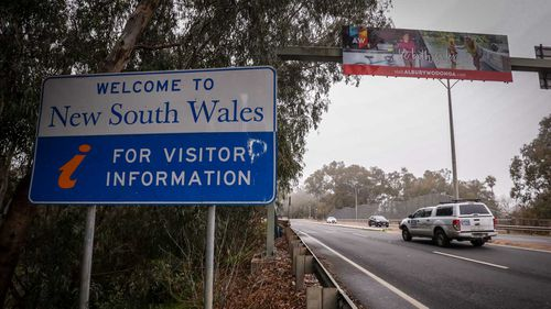 The border between NSW and Victoria has been closed.