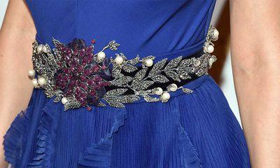 Brie Larson's Gucci belt.