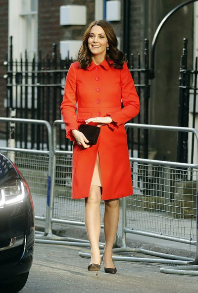 Duchess of Cambridge Kate Middleton in a coat from British retailer Boden at the Mittal Children's Medical Centre, on January 17, 2018