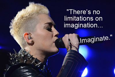 Miley imaginated a new word.