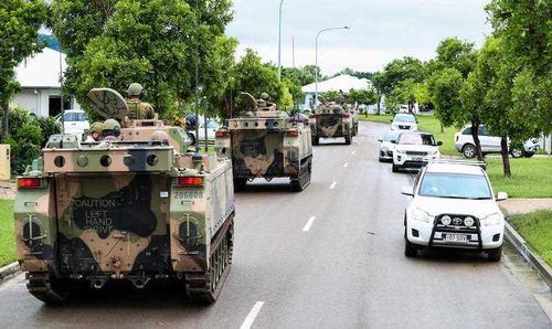 The defence force has continued to help locals
