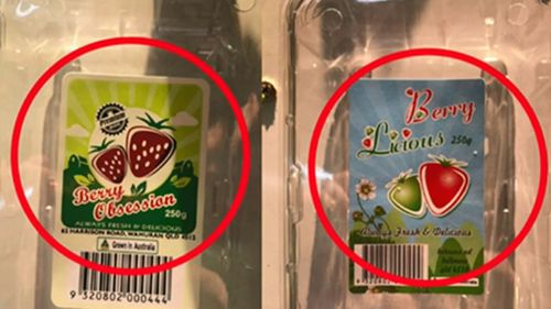 Berry Obsession and Berrylicious have been recalled in Queensland, New South Wales and Victoria.