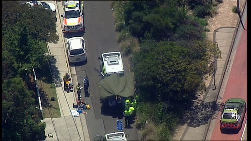 A grandmother was found unconscious on Moorilla Road, Dee Why, after being hit by a garbage truck while walking this morning (Supplied).