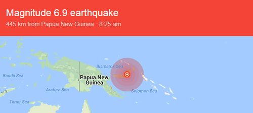 A map of where the earthqauke struck. Image: USGS Earthquake Hazards Program