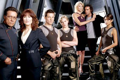 <B>Ran from:</B> 2004 to 2009. This cult sci-fi drama was based on the (much sillier) 1970s series.<br/><br/><B>The snub:</B> Despite its dumb title, this science-fiction drama rightly received widespread critical acclaim for its mix of multifaceted, complex characters, political storylines and delicious plot twists. <I>Time</I> magazine even named <I>Battlestar</I> one of the 100 best shows of all time, but it was never nominated for best drama (though it did win an Emmy for outstanding visual effects and sound).