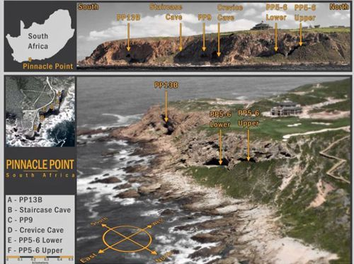 Researchers have been excavating caves at Pinnacle Point, South Africa, for nearly 20 years. Glass shards were discovered at the PP5-6 location. (Image: Erich Fisher).
